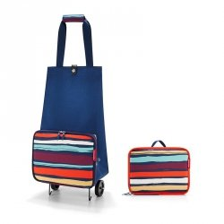 Torba na kółkach Foldable Trolley kolor Artist Stripes, firmy Reisenthel