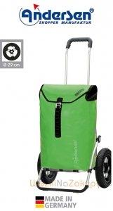 Wózek na zakupy Royal 165 Ortlieb zielony, firmy Andersen