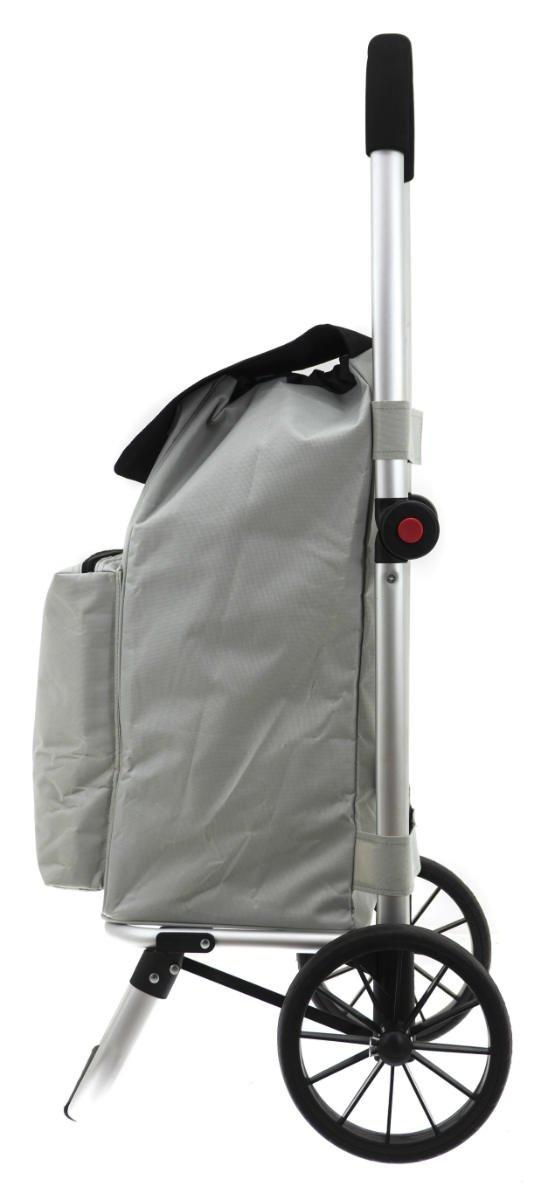 Wózek na zakupy Vik kolor srebrny, firmy Secc