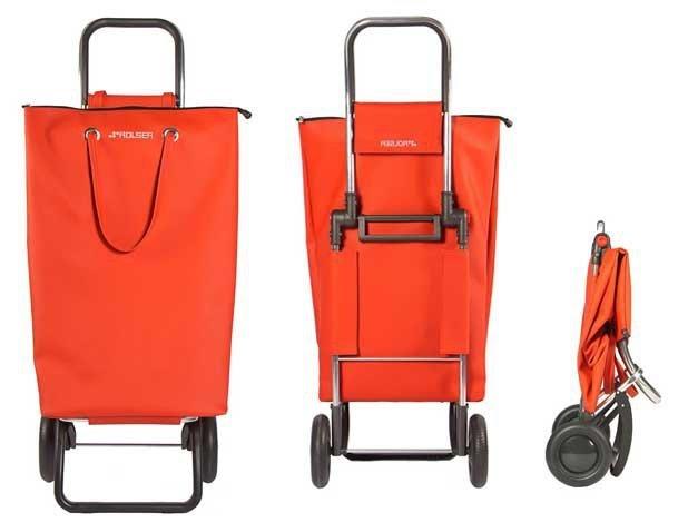 Wózek na zakupy SUP001 Superbag kolor ROJO, firmy Rolser
