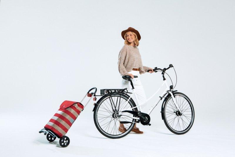 Wózek na zakupy Scala Tuva biały, firmy Andersen