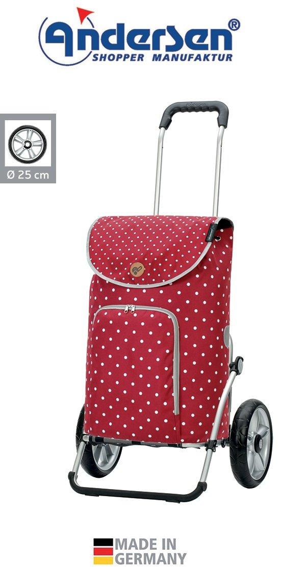 Wózek na zakupy Royal 167 Ole czerwony, firmy Andersen