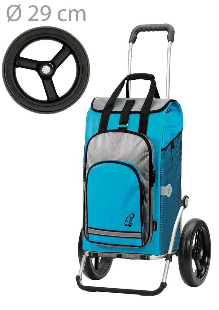 Wózek na zakupy Royal 164 Hydro turkusowy, firmy Andersen