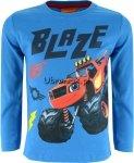 Bluzka Super Blaze i Mega Maszyny niebieska
