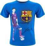 T-shirt FC Barcelona Autograf Leo Messi niebieski