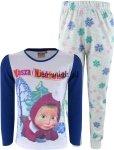 Piżama Masza i Niedźwiedź dla dziewczynki szara