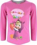 Bluzka Masza z truskawką różowa