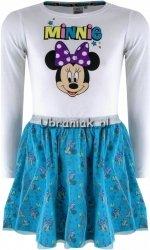 Sukienka Myszka Minnie biało-niebieska
