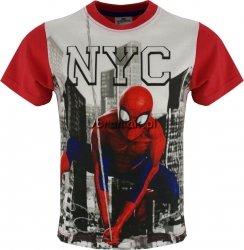 T-shirt Spiderman NYC czerwony