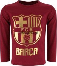 Bluzka Fc Barcelona złote logo bordo