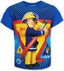 T-shirt Strażak Sam niebieski