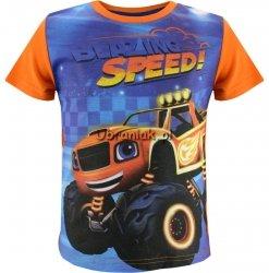 T-shirt Blaze i Mega Maszyny pomarańczowy