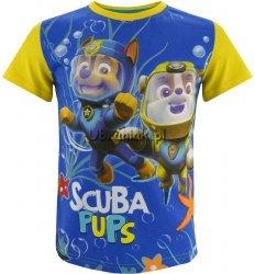 T-shirt Psi Patrol nurkowie żółty