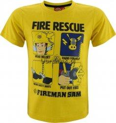 Koszulka Strażak Sam Fire Rescue żółta