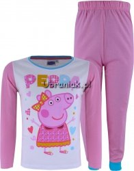 Piżamka ze Świnką Peppą na bluzce róż