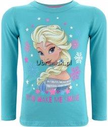 Bluzka Elsa w kolorowych płatkach turkusowa