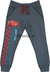 Spodnie Auta dresowe grafitowe z napisem