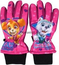 Rękawiczki Narciarskie Psi Patrol róż