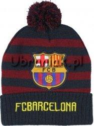 Czapka zimowa FC Barcelona bordowa
