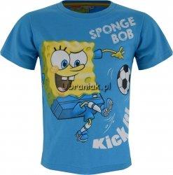 Koszulka SpongeBob z piłką błękitna
