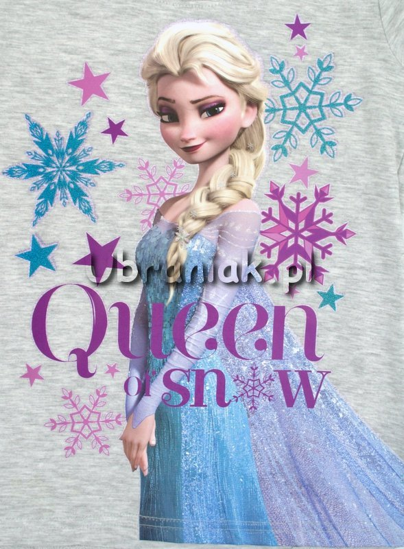 Bluzka Frozen Królowa Śniegu Elsa szara