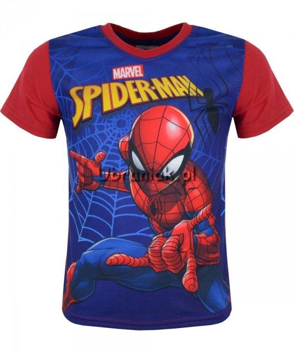T-shirt Spiderman w Sieci czerwony