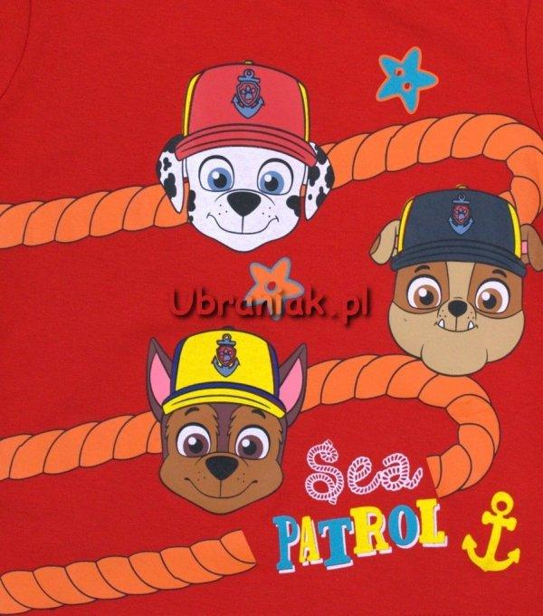 T-shirt Psi Patrol Morski Patrol czerwony Pieski