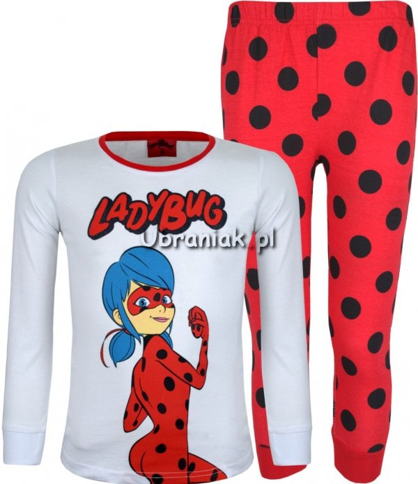 Piżama Miraculum Biedronka LadyBug biała