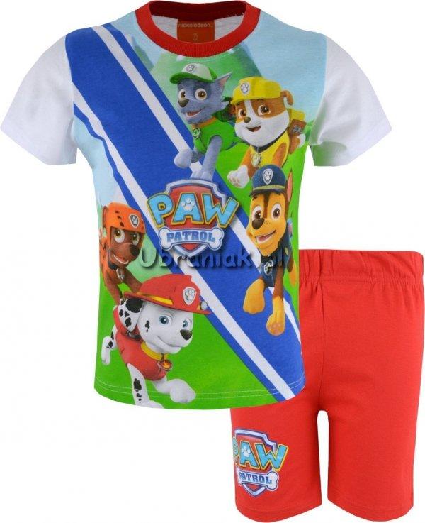 Piżama Psi Patrol letnia piątka czerwona