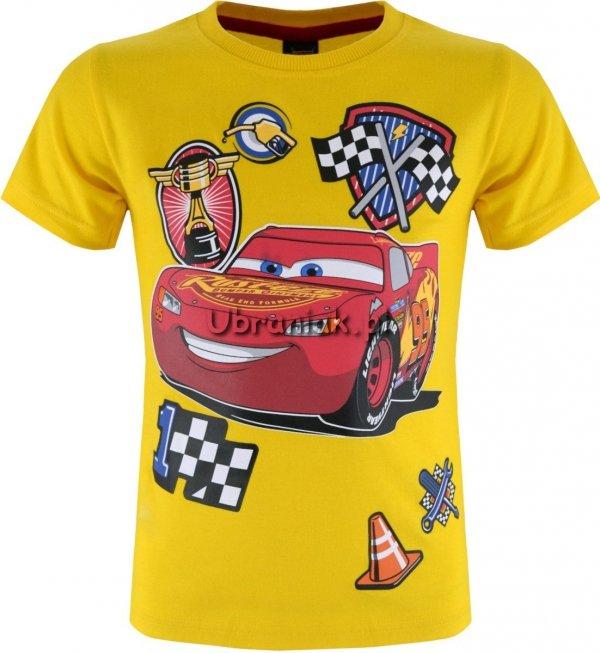 T-shirt Zygzak Mcqueen żółty