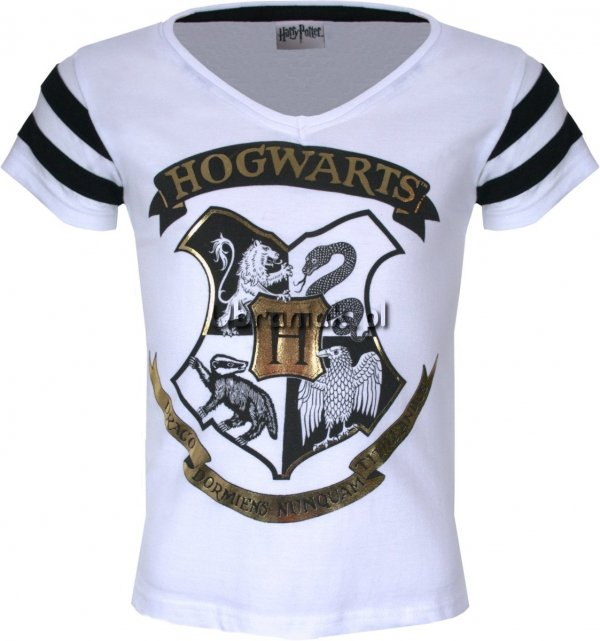 T-shirt Harry Potter biały