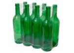 Butelka na wino 0,75l zielona - zgrzewka 8 szt.