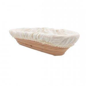 Podłużny koszyk do wyrastania chleba 0,8 kg + pokrowiec