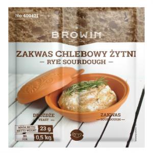 Zakwas chlebowy żytni z drożdżami i słodem - 23g