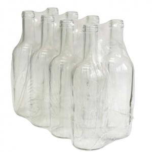 Butelka na wino 0,75L biała - zgrzewka 8 szt