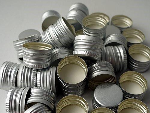 Nakrętka gwintowana alu srebrna 28x18 mm 1 szt