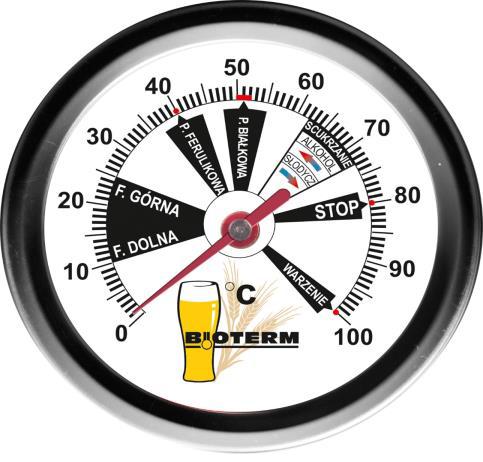 Termometr piwowarski 0-100 °C