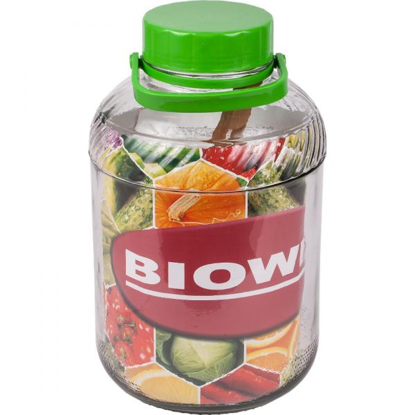 Słój 10 l z plastikową pokrywką