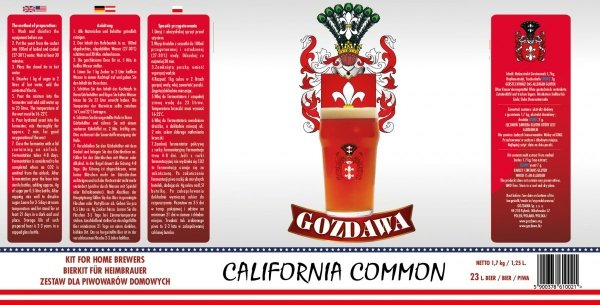 California Common 1,7kg + drożdże
