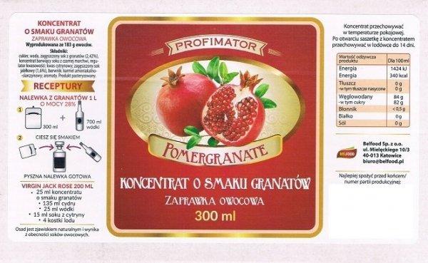 Zaprawka owocowa o smaku granatów 300ml