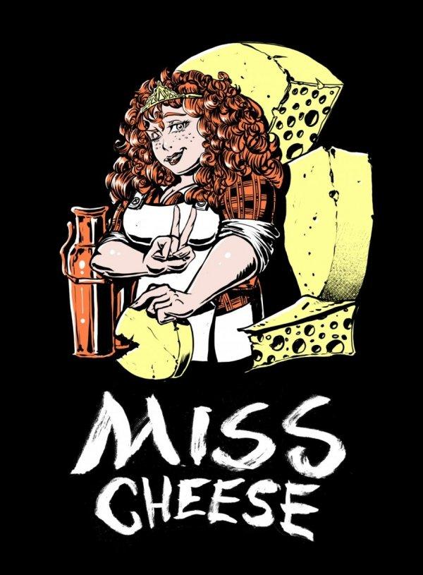Damska koszulka - Miss Cheese roz. S