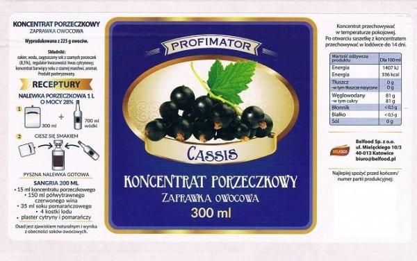 Zaprawka owocowa - Porzeczkowa 300ml