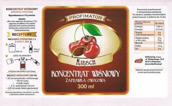 Zaprawka owocowa - Wiśniowa 300ml