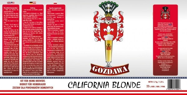 California Blonde 1,7kg + drożdże