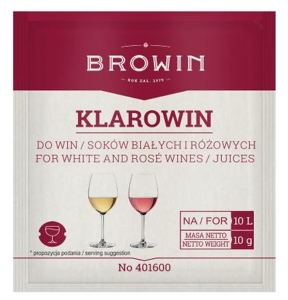 Klarowin 10g- do klarowania win różowych i białych