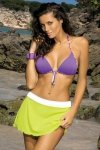 Plážová sukně Marko Meg Brazilian-Bianco M-266 žluto-bílá