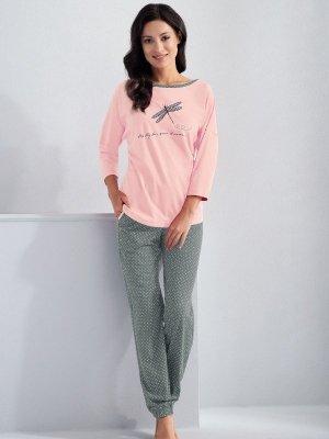 Luna Molly 561 Světle růžové Dámské pyžamo