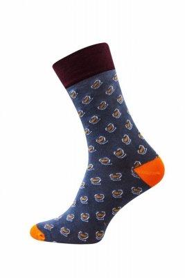 Sesto Senso Finest Cotton oranžové fazole Ponožky