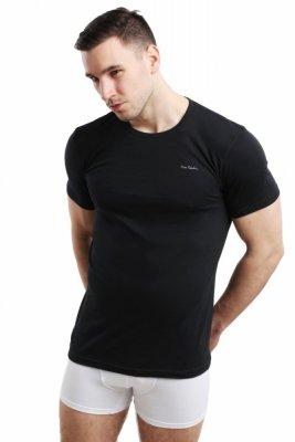 Pierre Cardin Rneck černý Pánské triko