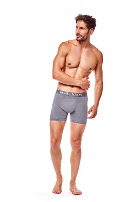 Henderson Man 35218-90X Šedé Pánské boxerky